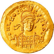[906298] Coin Leo I Solidus Constantinople Au55-58 Gold Ric605