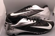 Aaron Rodgers Hand Signed Cleats With Coa Nfl Green Bay Packers Auto Nike Shoes