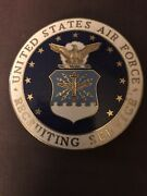 """Large Usa United States Air Force Recruiting Service Badge 2.5"""""""