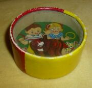 Vintage Circa 1940's Paper Box Ring Toss Skill Ball Games Toy Occupied Japan