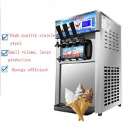 Intbuying Commercial Soft Ice Cream Machine 3 Flavor Cold Drink Store Usa 210022