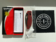 Spyderco Manix 2 Red G10 4v Steel Knife C101gprdbk2 Exclusive Discontinued New