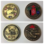 Two Canadian Military Medallions From 09-10 Afghanistan Service Medical Units
