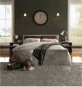 Queen Storage Padded Headboard Bed Modern Leather And Aluminium Bedroom Furniture