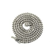 10k White Gold 4mm Solid Miami Cuban Link Chain Necklace With Box Lock 16-30