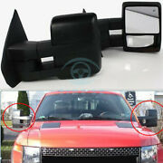 Auto 2pcs Left+right Rearview Mirror Cover Trim Assembly For Ford F150 2009-2011