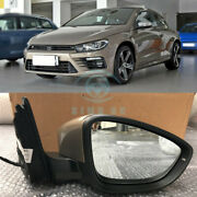 Replace For Volkswagen Scirocco Left+right Side Rearview Mirror Cover Assembly