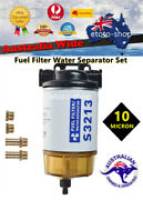 S3213 Marine Fuel Water Filter Separator Complete Kit Fit Outboard And Inboard