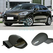 2x Front Outer Rearview Mirror Cover Assembly Replace For Citroen Ds5 Ds5-ls Ds6