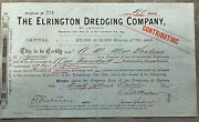 25th October 1904 Vintage Share Certificate The Elrington Dredging Company