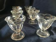 Vintage Fluted Parfait Dishes Anchor Hocking Some With Anchor Insignia.