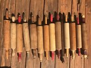 Antique Wooden Rolling Pin Collection 14 Pins