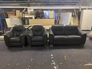 Gplan Leather 3 Seater Sofa X2 Reclining Armchairs   Rrp Andpound5069