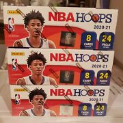 2020-21 Nba Hoops 3 Sealed Retail Boxes Slam Magazine Cover Insert Card Hot