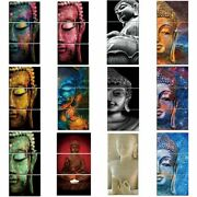 Modern Wall Pictures Buddha Canvas Art Portrait Painting Wall Art Living Room