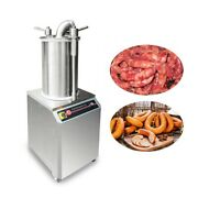 Commercial Hydraulic Sausage Stuffer Filler Stainless Steel 110v 1100w Premium