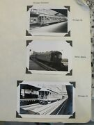 Photo Chicago Elevated Traction Trolley Car Lot Vintage 3 B/w Photographs