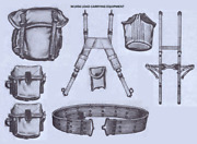 Us Military Lc1 / Lc2 Belt Rig - M1956 Throw Back Kit 8-piece Set Od