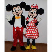 Hot Adult Suit Size Mickey Mouse And Minnie Mouse Mascot Costume