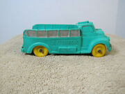Vintage Auburn Green Rubber Fire Cargo Delivery Toy Truck 518 Yellow Tires