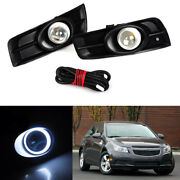 A Pair Car Refit Angle Eye Front Fog Lamp Lighting For Chevrolet Cruze 2011-2014