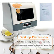 Compact Portable Mini Tabletop Dishwasher With Built-in Water Tankandled Display