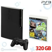 Ps3 Console Slim 320gb Black + Little Big Planet 2 + Official Pad + Equipment