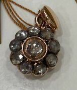 Antique Very Old 8k Yellow Gold Diamond And 210 Carat Ultra Nice