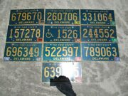 10 Delaware License Plate Lot For Collecting Or Decorating Man Cave 2