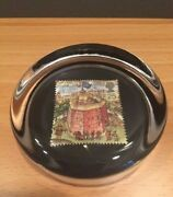 Glass Paperweight Shakespeare's Rose Theater - The Globe 1599 Stamp