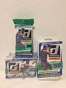 2021 Panini Donruss Baseball Lot Blaster Hanger And Fat Pack Factory Seal In Hand