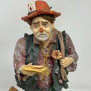 1987 Signed Duncan Royale History Of Clown 12 Tramp Figurine Limited Ed Circus