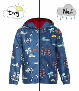 Holly And Beau Blue Pirates Magic Color Changing Raincoat 58 Nwt