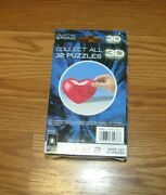Bepuzzled Original 3d Crystal Puzzle Heart Level 2 45 Pieces Valentines Day