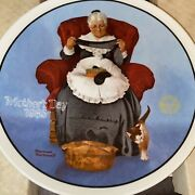 The Edwin M Knowles China Co Mending Time Mothers Day 1985 Norman Rockwell Plate