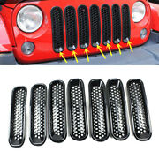 Auto Fit For Jeep Wrangler 2007-2015 Front Bumper Car Grille Net Abs(no Hole)a
