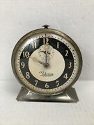Vintage E. Ingraham Company Victorian Eight Day Automatic Alarm Clock Works