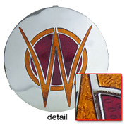 Willys Horn Button 1940s - 1950s Medallion Emblem 3-d Stamped And Cloisonne Fired