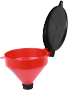 Funnel King Drum Funnel Screen Lockable Lid Spout 4quart Capacity Spill Hang New