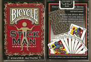 Bicycle Stick Man Stickman Playing Cards Deck Custom Designed Limitted Run