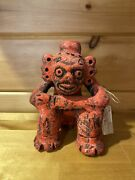 Dominican Republic Clay Figure Thinking Man Hand Made