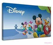 Disney Mickey Mouse And Donald Duck For Kids Canvas Wall Art Picture Print