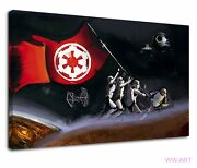 Epic Star Wars Galactic Empire Flag Stormtrooper Canvas Wall Art Picture Print