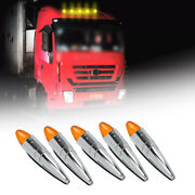 5pcs Led Roof Running Light Cab Marker Top Lamp Truck Trailers Tractor Universal