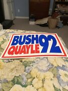 Vintage 1992 Bush/quayle Presidential Signs - Lot Of 7 Signs
