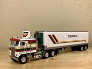 Dcp 1/64 Kenworth K100 Flattop And 40' Reefer Semi Truck Tractor Trailer Farm Toy