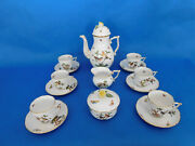 Herend Rothschild Coffee Or Cappuccino Set For 6 Person Porcelain