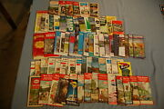 Vintage Us Highway Gas Station Map Lot Of 69 Esso Shell Standard Oil Sunoco Aaa