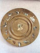 Vintage Bird Dog Hand Painted Wood Plate Tray Duck Hunting Yellow Lab Labrador