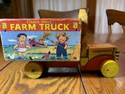 Vintage 1956 Fisher-price Farm Truck 845 Gc Rare Free Shipping To You L@@k